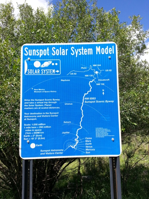 Scenic byway (6563) to Sunspot, NM